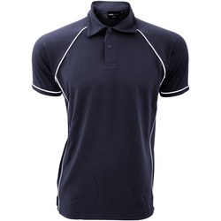 Textiel Heren Polo's korte mouwen Finden & Hales Piped Marine / Wit