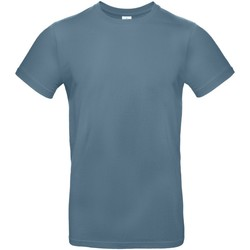 Textiel Heren T-shirts korte mouwen B And C TU03T Steen Blauw