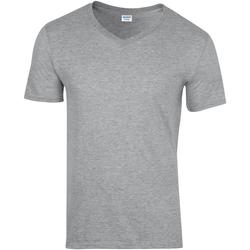 Textiel Heren T-shirts korte mouwen Gildan 64V00 Sportgrijs (RS)