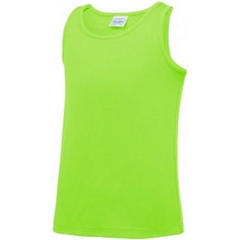 Textiel Kinderen Mouwloze tops Awdis JC007B Elektrisch Groen