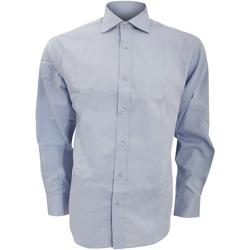Textiel Heren Overhemden lange mouwen Kustom Kit KK118 Lichtblauw