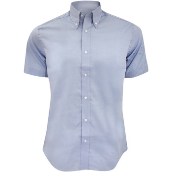 Textiel Heren Overhemden korte mouwen Kustom Kit KK187 Lichtblauw