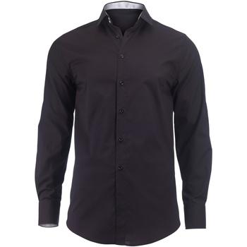 Textiel Heren Overhemden lange mouwen Alexandra Hospitality Zwart/Wit