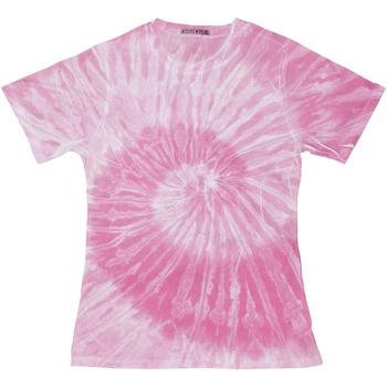 Textiel Dames T-shirts korte mouwen Colortone TD20M Spin Roze