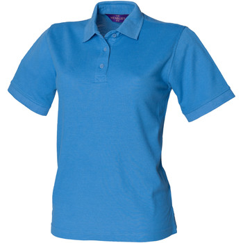 Textiel Dames Polo's korte mouwen Henbury HB401 Middenblauw