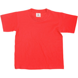 Textiel Kinderen T-shirts korte mouwen B And C Exact Rood