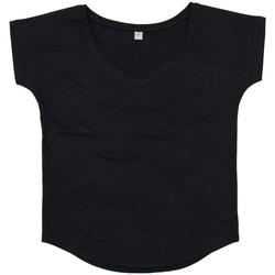 Textiel Dames T-shirts korte mouwen Mantis M147 Zwart