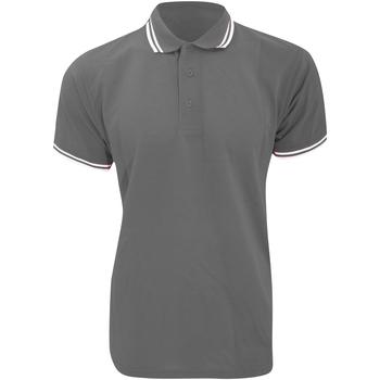 Textiel Heren Polo's korte mouwen Kustom Kit KK409 Grafiet / Wit