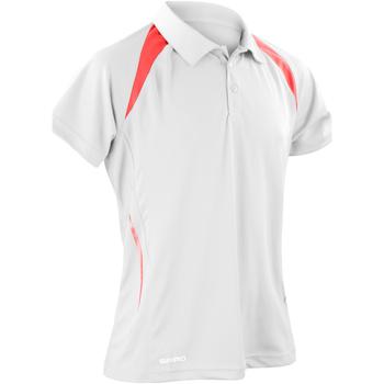 Textiel Heren Polo's korte mouwen Spiro S177M Wit/rood
