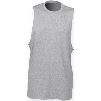 Textiel Heren Mouwloze tops Skinni Fit SF232 Heide Grijs