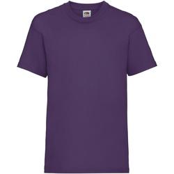 Textiel Kinderen T-shirts korte mouwen Fruit Of The Loom 61033 Paars