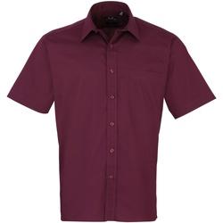 Textiel Heren Overhemden korte mouwen Premier PR202 Aubergine