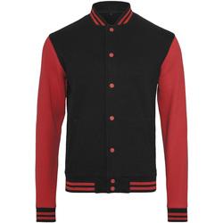 Textiel Heren Wind jackets Build Your Brand BY015 Zwart/Rood
