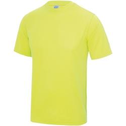 Textiel Heren T-shirts korte mouwen Awdis JC001 Elektrisch Geel