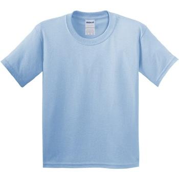 Textiel Kinderen T-shirts korte mouwen Gildan 64000B Lichtblauw