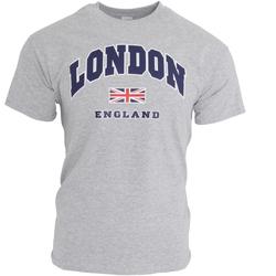 Textiel Heren T-shirts korte mouwen England  Sportgrijs
