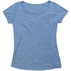 Textiel Dames T-shirts korte mouwen Stedman Stars  Vintage Blauw