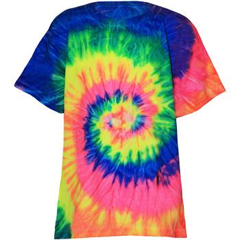 Textiel Kinderen T-shirts korte mouwen Colortone TD02B Neon Regenboog
