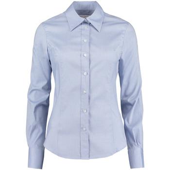 Textiel Dames Overhemden Kustom Kit KK702 Lichtblauw