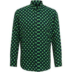 Textiel Heren Overhemden lange mouwen Christmas Shop Claus/Sprout Spruit / Marine