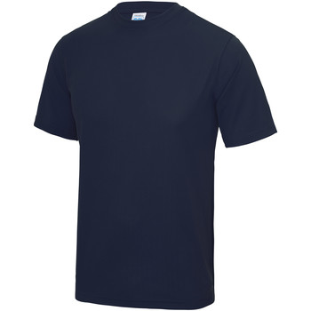 Textiel Kinderen T-shirts korte mouwen Awdis JC01J Marine Oxford