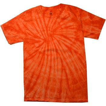 Textiel Heren T-shirts korte mouwen Colortone Tonal Spinaasappel