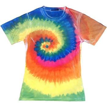 Textiel Dames T-shirts korte mouwen Colortone TD21M Regenboog