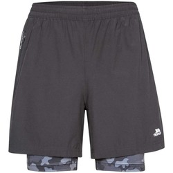 Textiel Heren Korte broeken / Bermuda's Trespass Patterson Zwart/Grijs