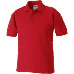 Textiel Jongens Polo's korte mouwen Jerzees Schoolgear 65/35 Klassiek rood