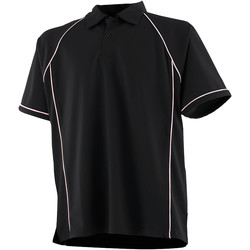 Textiel Kinderen Polo's korte mouwen Finden & Hales LV372 Zwart/Wit