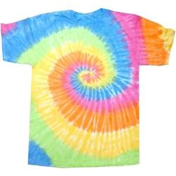 Textiel Dames T-shirts korte mouwen Colortone Rainbow Eeuwigheid