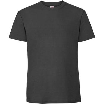 Textiel Heren T-shirts korte mouwen Fruit Of The Loom 61422 Licht Gaphite