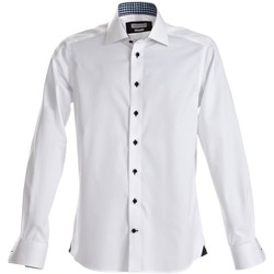 Textiel Heren Overhemden lange mouwen J Harvest & Frost Red Bow Wit/zwart