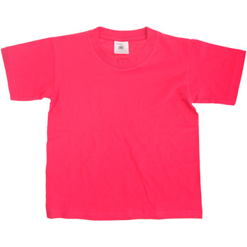 Textiel Kinderen T-shirts korte mouwen B And C Exact Fuchsia