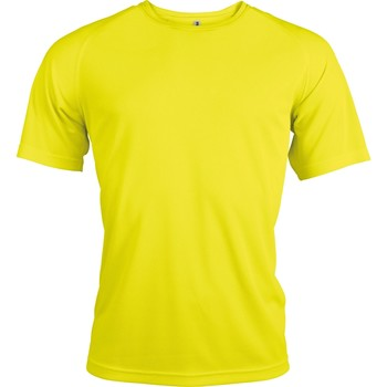 Textiel Heren T-shirts korte mouwen Kariban Proact PA438 Fluorescerend Geel
