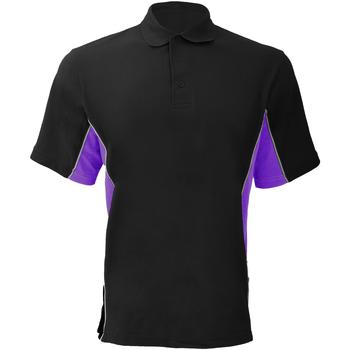 Textiel Heren Polo's korte mouwen Gamegear KK475 Zwart/Paars/Wit