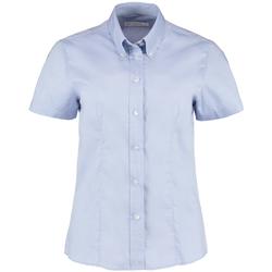 Textiel Dames Overhemden Kustom Kit KK701 Lichtblauw