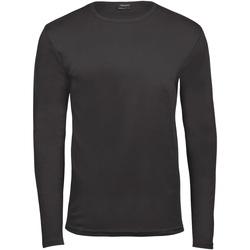 Textiel Heren T-shirts met lange mouwen Tee Jays TJ530 Donkergrijs