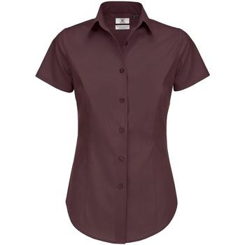 Textiel Dames Overhemden B And C B715F Luxueus Rood