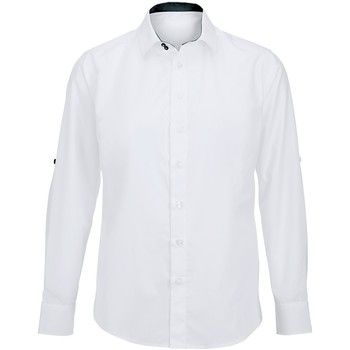 Textiel Heren Overhemden lange mouwen Alexandra Hospitality Wit/zwart
