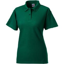 Textiel Dames Polo's korte mouwen Jerzees Colours 539F Fles groen