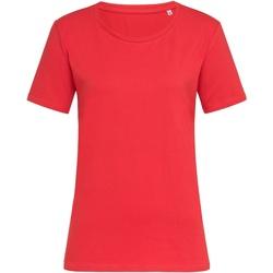 Textiel Dames T-shirts korte mouwen Stedman  Scharlakenrood