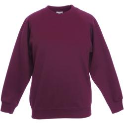 Textiel Kinderen Sweaters / Sweatshirts Fruit Of The Loom 62039 Burgendy
