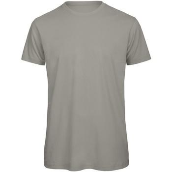 Textiel Heren T-shirts korte mouwen B And C TM042 Lichtgrijs
