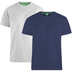 Textiel Heren T-shirts korte mouwen Duke  Marine/Grijs