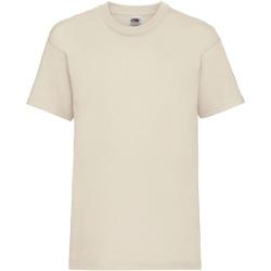 Textiel Kinderen T-shirts korte mouwen Fruit Of The Loom 61033 Natural