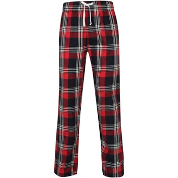Textiel Heren Pyjama's / nachthemden Skinni Fit SFM83 Rood/navy check