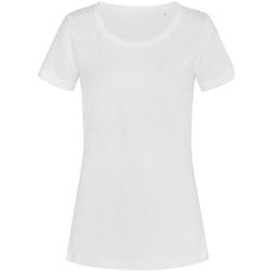 Textiel Dames T-shirts korte mouwen Stedman Stars Sharon Wit