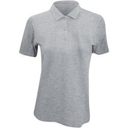 Textiel Dames Polo's korte mouwen Anvil 6280L Heide Grijs