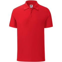 Textiel Heren Polo's korte mouwen Fruit Of The Loom 63044 Rood